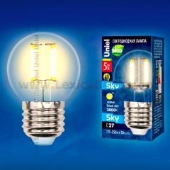Лампа светодиодная Uniel LED-G45-5W/WW/E27/CL PLS02WH