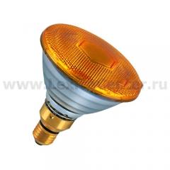 Лампа зеркальная PAR38 Philips 80W желтая