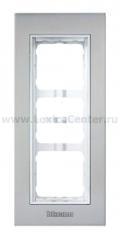 Legrand Bticino Axolute 339213 Сталь Декоративная накладка 3 модуля