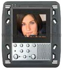 "Legrand Bticino Axolute 349311 Алюминий Видеодисплей цветной LCD экран 2,5"" hands-free, 2-провод (под суппорт 3+3)"