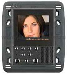 "Legrand Bticino Axolute 349312 Антрацит Видеодисплей цветной LCD экран 2,5"" hands-free, 2-провод (под суппорт 3+3)"