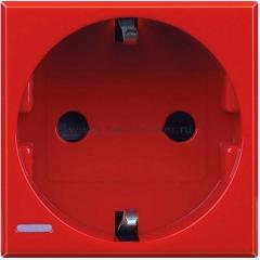 Legrand Bticino Axolute H4141R Красный Розетка с/з защитными шторками, винт. зажим, возможность индикации, 2 мод