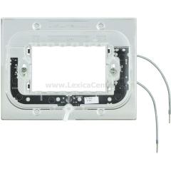 Legrand Bticino Axolute HA4703X Суппорт с подсветкой 230 Вт 2,5мА 0,3Вт для прямоуг. рамки 3 мод