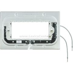 Legrand Bticino Axolute HA4704X Суппорт с подсветкой 230 Вт 2,5мА 0,3Вт для прямоуг. рамки 4 мод