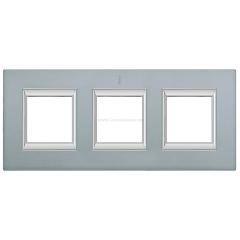 Legrand Bticino Axolute HA4802/3AZ Темное Серебро Рамка 2+2+2 мод прямоугольная (надпись вертикально)
