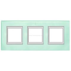 Legrand Bticino Axolute HA4802/3VKA Кристалл Рамка 2+2+2 мод прямоугольная (надпись вертикально)