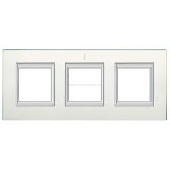 Legrand Bticino Axolute HA4802/3VSA Матовое стекло Рамка 2+2+2 мод прямоугольная (надпись вертикально)