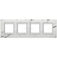 Legrand Bticino Axolute HA4802/4RMC Белый мрамор Каррара Рамка 2+2+2+2 мод прямоугольная