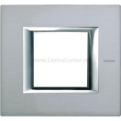 Legrand Bticino Axolute HA4802AZ Темное Серебро Рамка 2 мод прямоугольная