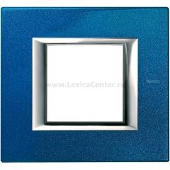 Legrand Bticino Axolute HA4802BM Сапфир Рамка 2 мод прямоугольная