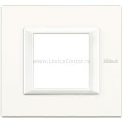 Legrand Bticino Axolute HA4802HD White Рамка 2 мод прямоугольная