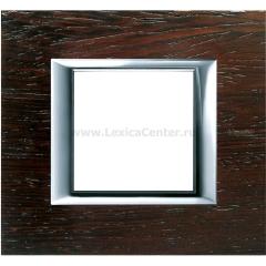Legrand Bticino Axolute HA4802LWE Венге Рамка 2 мод прямоугольная