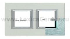 Legrand Bticino Axolute HA4802M2HCR Хром Рамка 2+2 мод прямоугольная горизонтальная