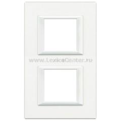Legrand Bticino Axolute HA4802M2HD White Рамка 2+2 мод прямоугольная вертикальная