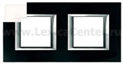 Legrand Bticino Axolute HA4802M2HHD White Рамка 2+2 мод прямоугольная горизонтальная