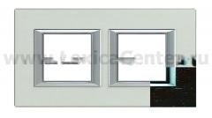 Legrand Bticino Axolute HA4802M2HLWE Венге Рамка 2+2 мод прямоугольная (надпись горизонтально)
