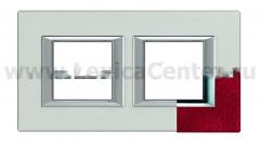 Legrand Bticino Axolute HA4802M2HRC Рубин Рамка 2+2 мод прямоугольная (надпись горизонтально)