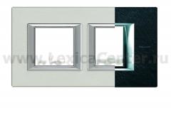 Legrand Bticino Axolute HA4802M2HRLV Черный мрамор Ардезия Рамка 2+2 мод прямоугольная (надпись горизонтально)