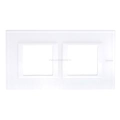 Legrand Bticino Axolute HA4802M2HVBB Белое стекло Рамка 2+2 мод прямоугольная горизонтальная