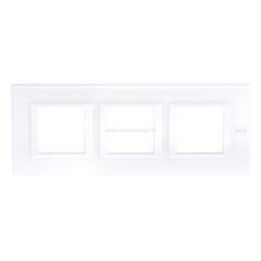 Legrand Bticino Axolute HA4802M3HVBB Рамка Белое стекло 2+2+2 мод прямоугольная горизонтальная