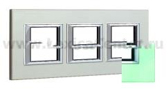 Legrand Bticino Axolute HA4802M3HVKA Кристалл Рамка 2+2+2 мод прямоугольная (надпись горизонтально)