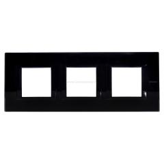 Legrand Bticino Axolute HA4802M3HVNB Nighter Рамка 2+2+2 мод прямоугольная (надпись горизонтально)