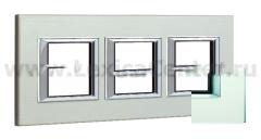 Legrand Bticino Axolute HA4802M3HVSA Матовое стекло Рамка 2+2+2 мод прямоугольная (надпись горизонтально)