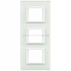 Legrand Bticino Axolute HA4802M3VBB Рамка Белое стекло 2+2+2 мод прямоугольная вертикальная