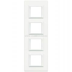 Legrand Bticino Axolute HA4802M4HD White Рамка 2+2+2+2 мод прямоугольная вертикальная