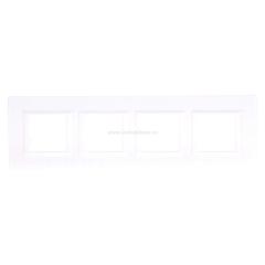 Legrand Bticino Axolute HA4802M4HHD White Рамка 2+2+2+2 мод прямоугольная горизонтальная