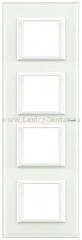 Legrand Bticino Axolute HA4802M4HVBB Белое стекло Рамка 2+2+2+2 мод прямоугольная горизонтальная