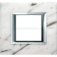 Legrand Bticino Axolute HA4802RMC Белый мрамор Каррара Рамка 2 мод прямоугольная