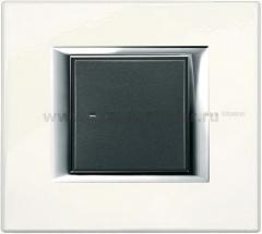 Legrand Bticino Axolute ha4802sa Жемчужное Серебро Рамка 2 мод прямоугольная