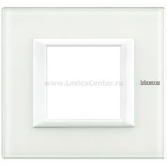 Legrand Bticino Axolute HA4802VBB Белое стекло Рамка 2 мод прямоугольная