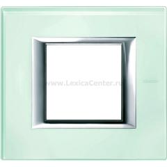 Legrand Bticino Axolute HA4802VKA Кристалл Рамка 2 мод прямоугольная