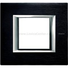 Legrand Bticino Axolute HA4802XS Антрацит Рамка 2 мод прямоугольная