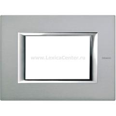 Legrand Bticino Axolute HA4803AZ Темное Серебро Рамка 3 мод прямоугольная