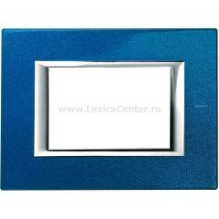 Legrand Bticino Axolute HA4803BM Сапфир Рамка 3 мод прямоугольная