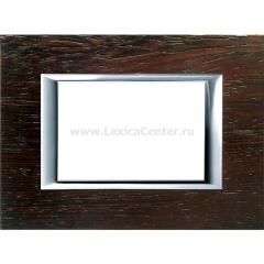 Legrand Bticino Axolute HA4803LWE Венге Рамка 3 мод прямоугольная