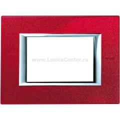 Legrand Bticino Axolute HA4803RC Рубин Рамка 3 мод прямоугольная