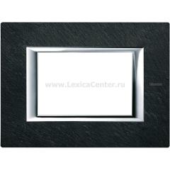 Legrand Bticino Axolute HA4803RLV Черный мрамор Ардезия Рамка 3 мод прямоугольная