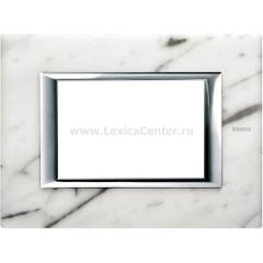Legrand Bticino Axolute HA4803RMC Белый мрамор Каррара Рамка 3 мод прямоугольная