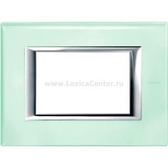 Legrand Bticino Axolute HA4803VKA Кристалл Рамка 3 мод прямоугольная