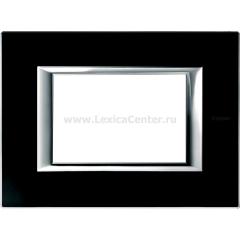 Legrand Bticino Axolute HA4803VNN Черное стекло Рамка 3 мод прямоугольная