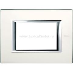 Legrand Bticino Axolute HA4803VSA Матовое стекло Рамка 3 мод прямоугольная