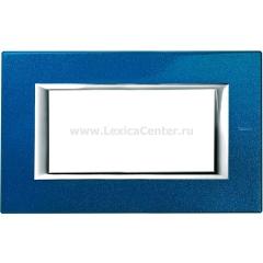 Legrand Bticino Axolute HA4804BM Сапфир Рамка 4 мод прямоугольная