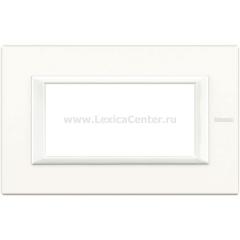 Legrand Bticino Axolute HA4804HD White Рамка 4 мод прямоугольная