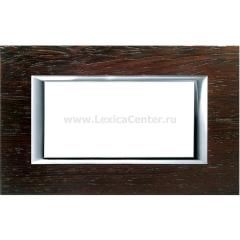 Legrand Bticino Axolute HA4804LWE Венге Рамка 4 мод прямоугольная