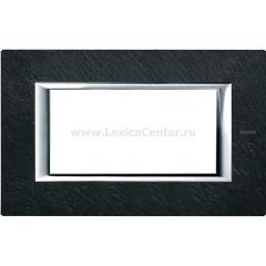 Legrand Bticino Axolute HA4804RLV Черный мрамор Ардезия Рамка 4 мод прямоугольная