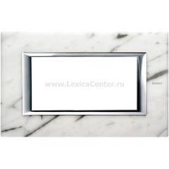 Legrand Bticino Axolute HA4804RMC Белый мрамор Каррара Рамка 4 мод прямоугольная